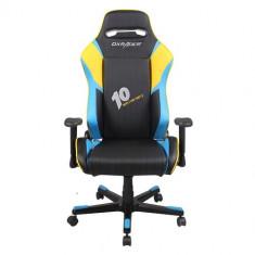 Scaun gaming rotativ DX-Racer DF53/NBY Black Blue Yellow