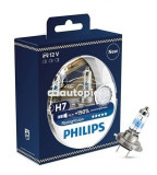 Set 2 becuri Philips H7 RacingVision (+150% lumina) 12V 55W 12972RVS2