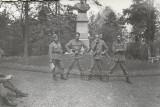 Fotografie militari romani poza veche