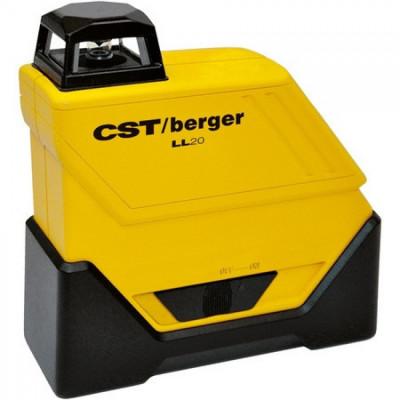 Bosch CST/berger LL20 Set nivela laser plan 360gr pentru exterior, 80m, receptor 160m, precizie 0.15mm/m orizontal foto