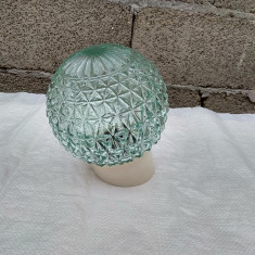 glob sfera abajur lustra aplica perete lampa veche ceramica Flacara Buzau
