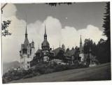 Castelul Peles reclama de epoca studio foto W Weiss Sinaia