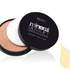 Pudra Compacta Profesionala Ingrid Cosmetics Mineral Silk Lift 22 Perfect Beige