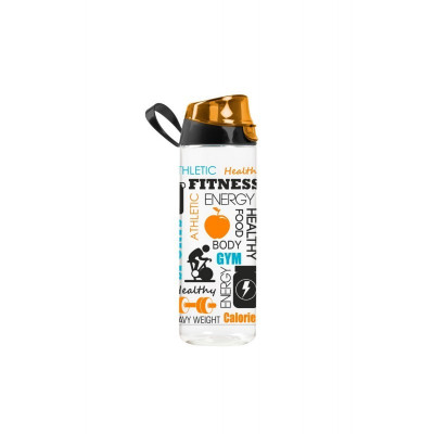 Sticlă sport din plastic, 750 ml, model fitness foto