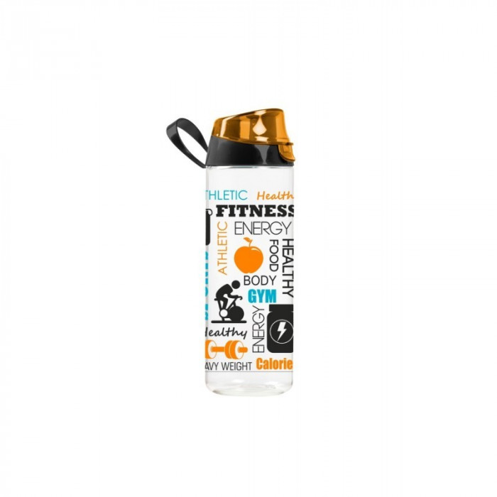 Sticlă sport din plastic, 750 ml, model fitness