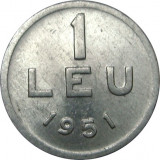 Romania, 1 leu 1951 * cod 89, Aluminiu