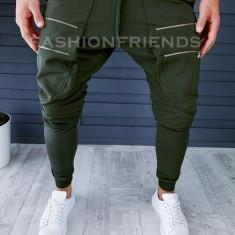 Pantaloni de trening kaki conici 18237