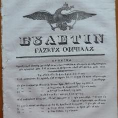 Ziarul Buletin , gazeta oficiala a Principatului Valahiei , nr. 63 , 1839
