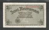 GERMANIA  NAZISTA 2 MARCI REICHSMARK  1940 [9] P- 137b , 8 cifre , Litera T , VF