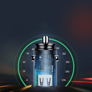 Incarcator Auto Baseus Circular cu functie QuickCharge 40 Iesiri USB si USBC PD 30W Negru