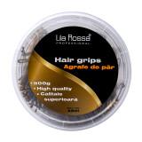 Agrafe pentru par Lila Rossa A501, 500 g, 6 cm, Auriu