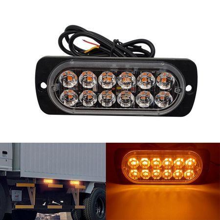 Stroboscoape 12 LED, lumini de avertizare galbene pentru auto