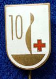 Insigna Donator Onorific - CRUCEA ROSIE Medicina Sanitare Donator de sange #2