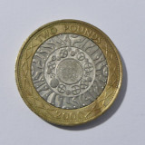 Moneda bimetal 2 lire 2000 XF Anglia(11343), Europa