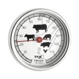 Termometru pentru mancare, 51 mm, metal, Argintiu, General
