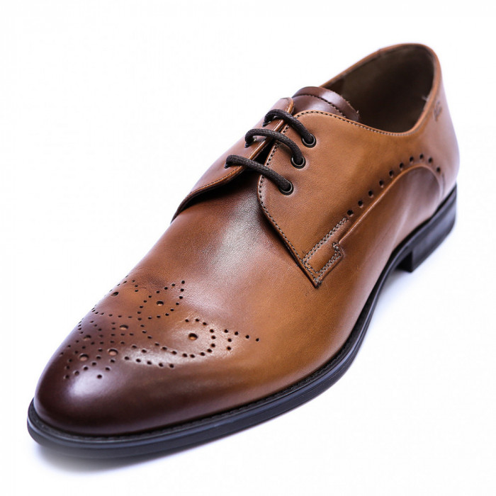 Pantofi eleganti pentru barbati din piele naturala, Soni, ANNA CORI, Maro, 39 EU