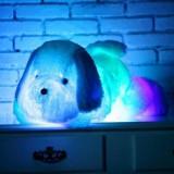 Jucarie copii Catel de plus, LED multicolor, lumina ambientala glow, 50 cm