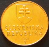 Moneda 1 COROANA (Koruna) - SLOVACIA, anul 1993    *cod 255