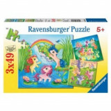 Puzzle ponei in lumea basmelor 3x49 piese