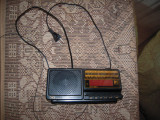 Radio cu ceas si alarma MAYATONE, se alimenteaza la priza sau baterie 9V, negru