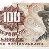 DANEMARCA - 100 kr - seria 1997