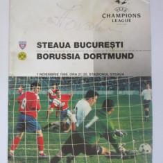 Program meci Steaua Bucuresti-Borussia Dortmund 1 noiembrie 1995