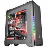 Carcasa desktop ThermalTake Versa C21 , Middle Tower , Iluminare LED RGB , Negru