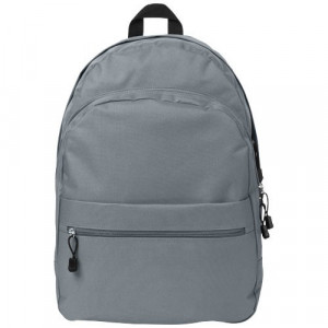 Rucsac confortabil, curele ajustabile, buzunar frontal, Everestus, TD, 600D poliester, gri, saculet si eticheta bagaj incluse
