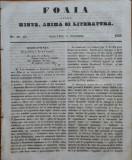 Ziarul Foaia pentru minte , inima si literatura , nr. 46 - 47 , 1853