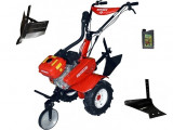 Motocultor Rotakt ROG80-T3, 7 CP, 3 viteze, carcasa transmisie fonta + Plug de arat +Rarita + Cadou ulei .