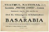 Afis Conferinta E.Giurgea : BASARABIA - 1923