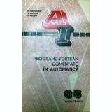 Programe Fortran comentate, in automatica