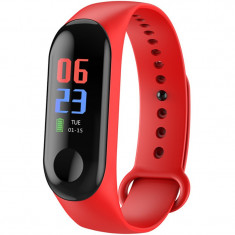 Bratara Fitness iUni N3C, Display OLED 0.96 inch, Bluetooth, Pedometru, Notificari, Rosu