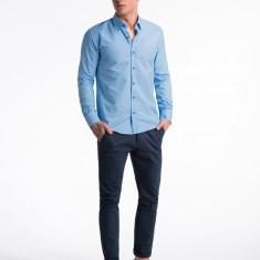 Camasa premium, casual, barbati - K477-albastru-bleumarin