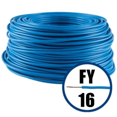 Cablu electric FY 16 – 100 M – H07V-R – albastru foto