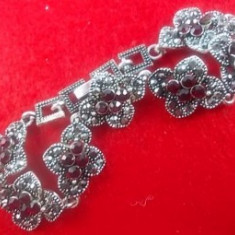 Bratara Marcasite Flower Red