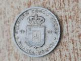 1 franc 1959 Congo Belgian., Africa, Aluminiu