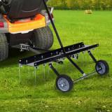 Scarificator pentru mașină de tuns iarbă ride-on, 100 cm, vidaXL