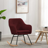 VidaXL Scaun balansoar, roșu vin, material textil
