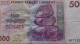 BANCNOTA 500 DOLLARS 2007-ZIMBABWE (AB 712)