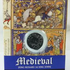 """Monedă Medievală din timpul regelui Richard I """"Inimă de Leu"""", reproducere"""