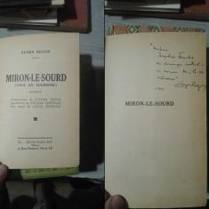 Miron-Le-Sourd – Eugen Relgis, 1939, priceps, autograf autor
