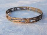 BRATARA argint TRIBALA YEMENITA in filigran VECHE de efect RARA splendida