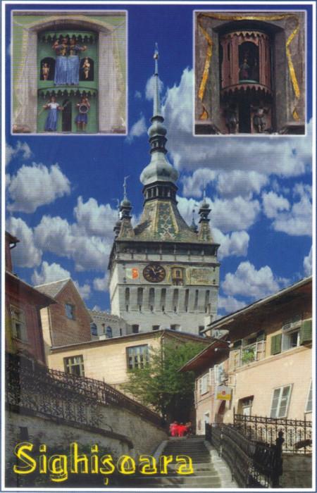 Carte postala CP MS075 Sighisoara - Turnul cu ceas - necirculata