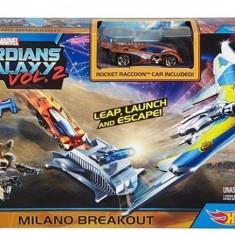 Set Jucarii Marvel Track Gotg2 Milano Breakot, Hot Wheels