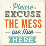 Magnet - Please excuse the mess we live here | Generic