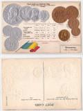 1905(aprox) - Litografie, monedele romanesti