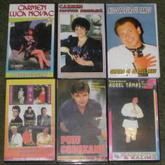 Caseta video muzica populara,Nicolae Furdui Iancu,Carmen Luca Novac 40 lei buc