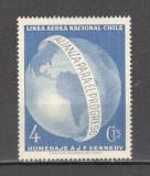Chile.1964 Posta aeriana-Omagiu presedintelui J.F.Kennedy  CC.1, Nestampilat