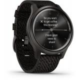 Ceas Smartwatch Garmin Vivomove Style, Gunmetal/Dark Gray, Otel inoxidabil, Negru